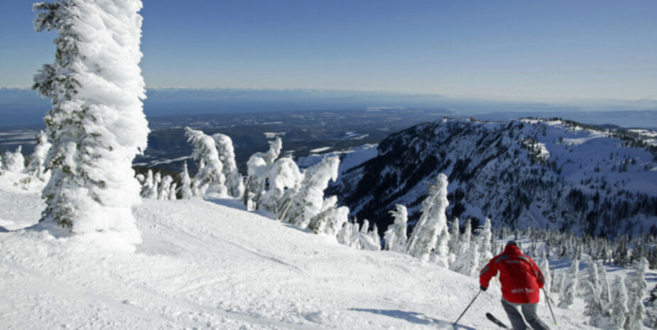 Skiing Activities near Shady Shores Beach Resort located near Qualicum Beach on Vancouver Island BC